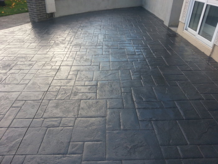 pattern imprinted concrete driveways and patios in Huddersfield