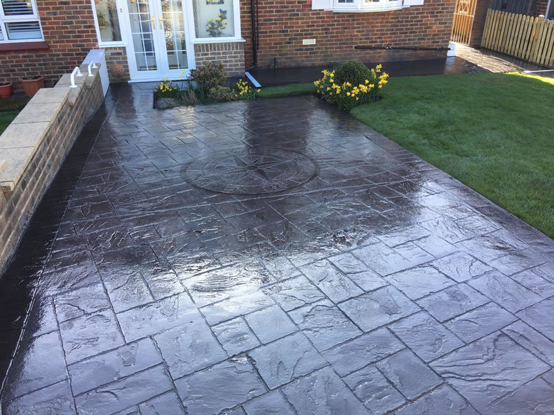 pattern imprinted concrete driveways in sheffield