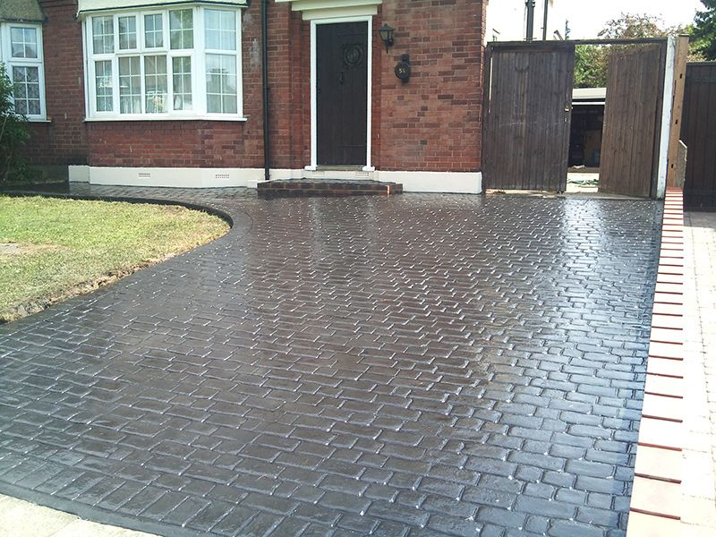 pattern imprinted driveways in sheffield