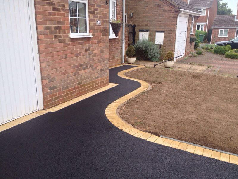 recent installation for new tarmac driveway