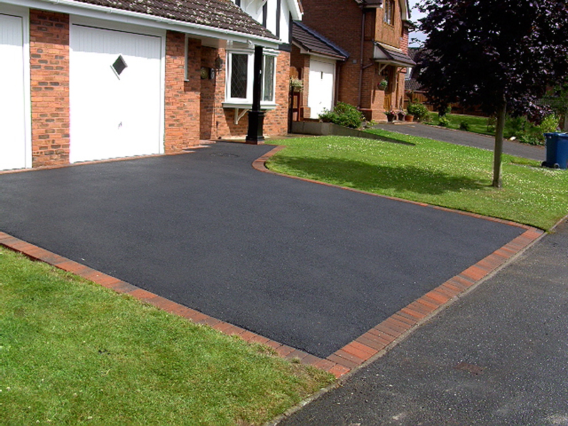 tarmac driveway with block paved edging in sheffield